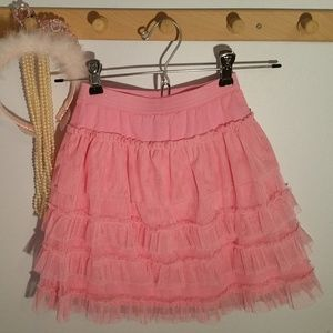 Baby Gap Size 4 Pink Tutu gauze ruffled skirt